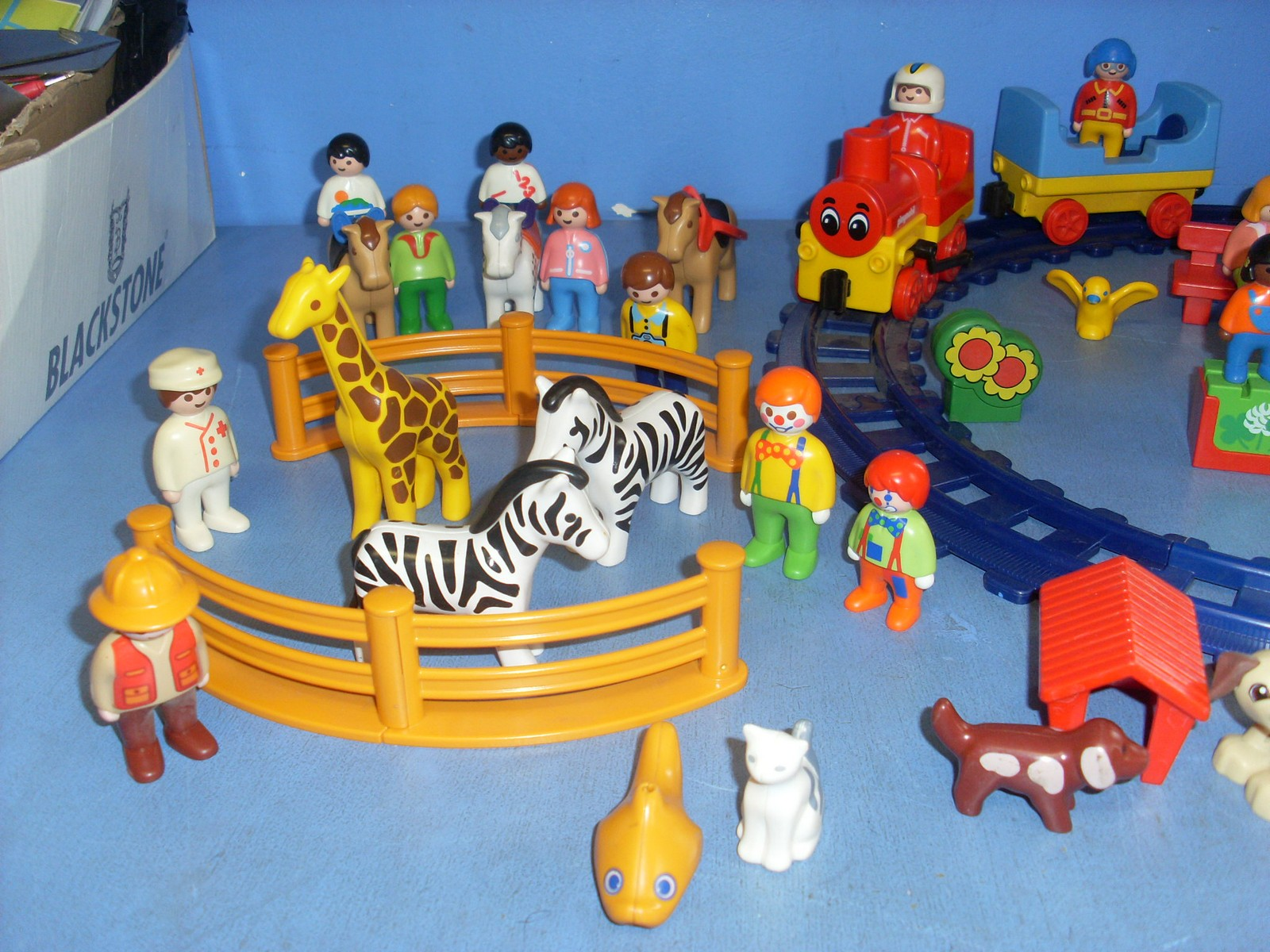 dec04 playmobil 123 lot train animaux personnages ebay. Black Bedroom Furniture Sets. Home Design Ideas